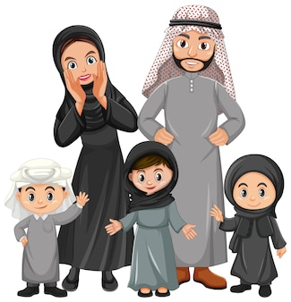Arabian family on holiday
