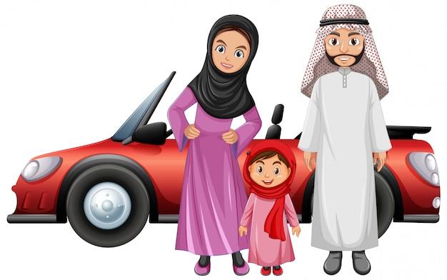 休日にアラビア家族