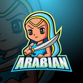 아라비아 소녀 마스코트