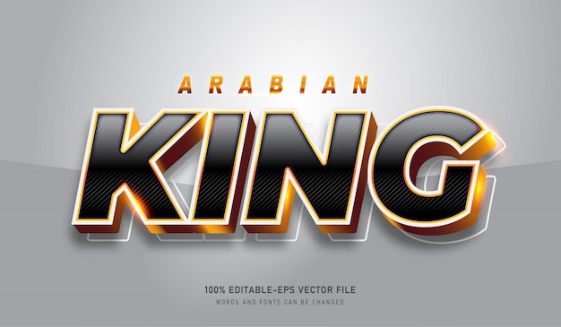 Arabian king text effect template