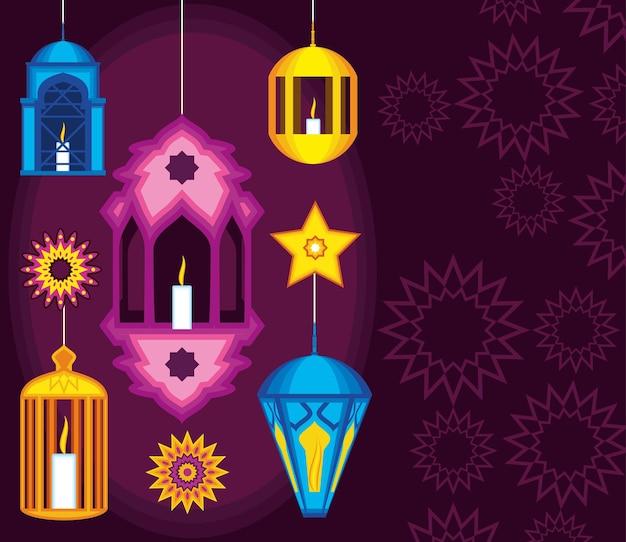 Arabian mandalas lamps star light