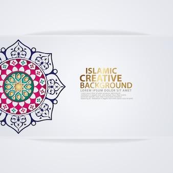 主要なイスラムのイベントのためのアラビアのアラベスクデザインのグリーティングカード