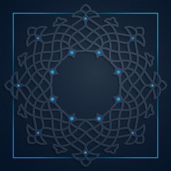 Арабский круг геометрический рисунок для исламского фона