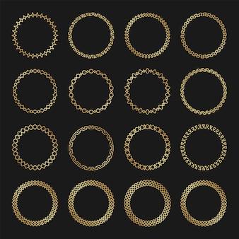 Коллекция арабских круглых рамок
