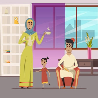 Arabic family background