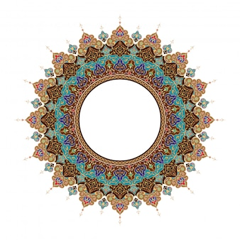 Arabic floral circle ornament