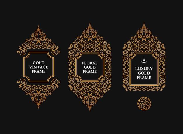 Arabic frames art emblems
