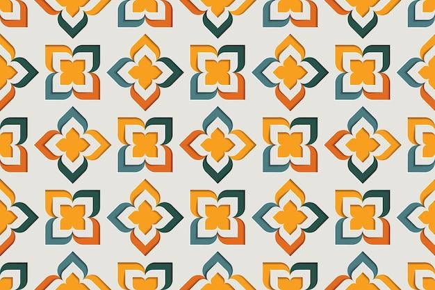아랍어 기하학적 꽃 장식 풍의 완벽 한 패턴입니다. 동쪽 모티브 종이 스타일 배경