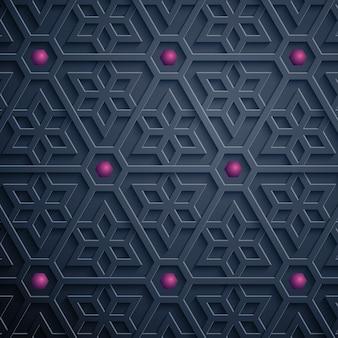 Арабский геометрический узор богато украшенный фон