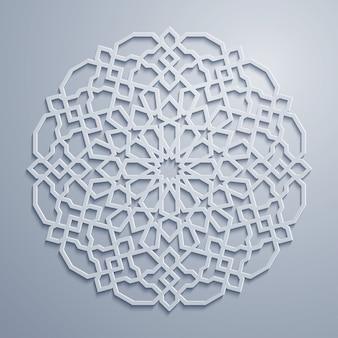 화려한 아랍어 기하학적 패턴