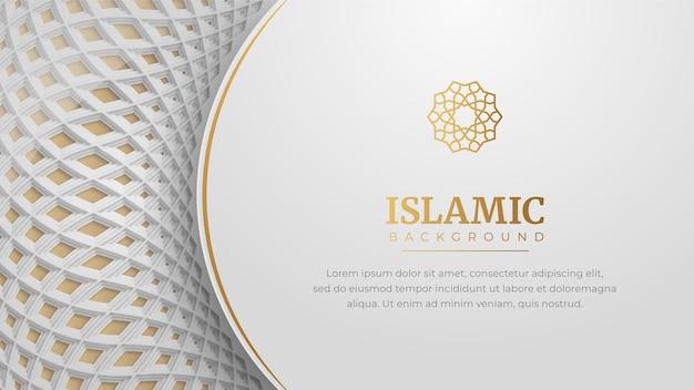 Арабский исламский элегантный белый роскошный кадр орнамент фон