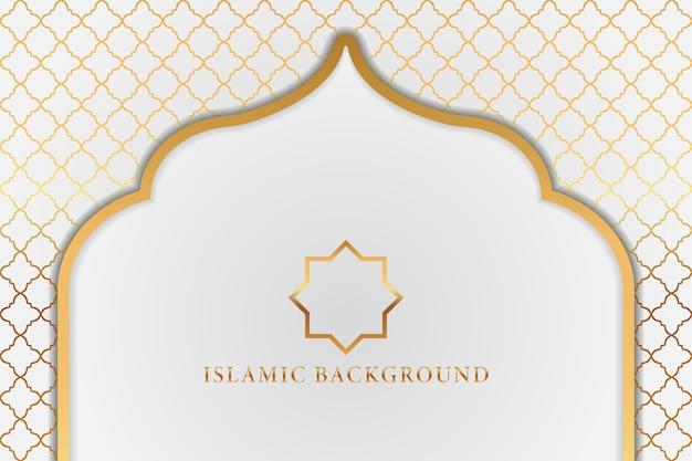 아랍어 이슬람 우아한 화이트 럭셔리 장식 배경