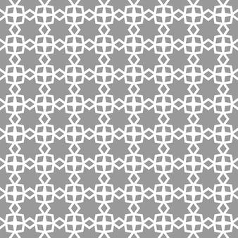 아랍어, 이슬람 원활한 패턴 별, 선 기하학적 장식. 회색과 흰색. 직물, 섬유, 표지, 벽지, 배경을 위한 훌륭한 디자인