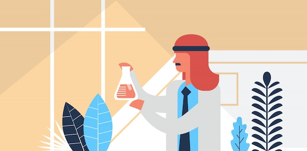 Arabic male researcher working banner