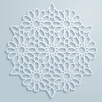 아랍어 장식 기하학적 패턴 배경