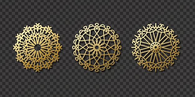 Арабский орнамент набор Premium векторы