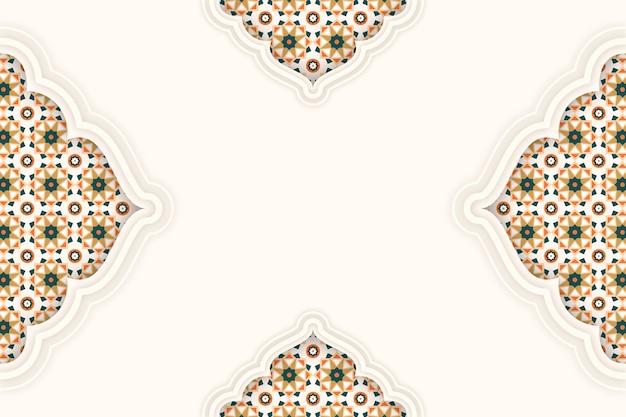 Арабский декоративный фон в бумажном стиле