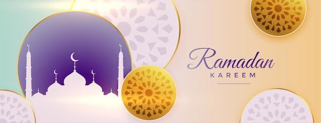Arabo ornamentale ramadan kareem bellissimo design banner