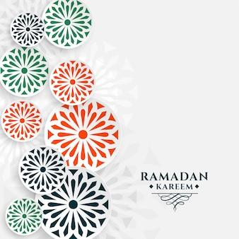 アラビア語の装飾用ラマダンカリームまたはイードムバラクグリーティングカード