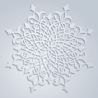 Arabic ornate circle floral pattern