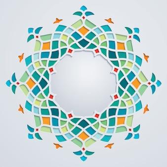 Arabic pattern circle geometric ornament