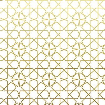 Арабский узор в золотом стиле. традиционный арабский восточный геометрический декоративный фон.