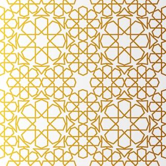 Arabic pattern gold style. traditional arab east geometric decorative background.