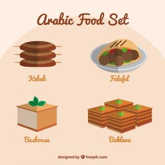 Арабские продукты в плоской конструкции