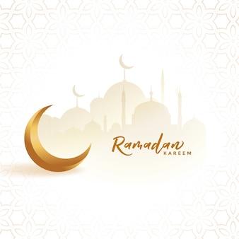 Arabic ramadan kareem islamic festival card