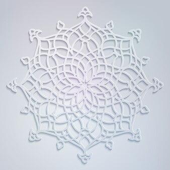 아랍어 라운드 화려한 꽃 장식 패턴