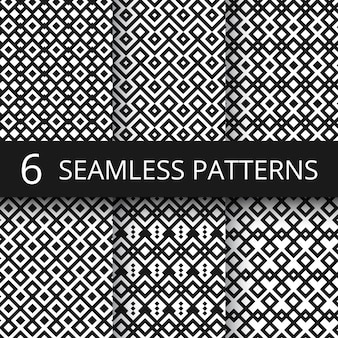 Arabic seamless ornamental vector patterns. islam architecture endless decoration