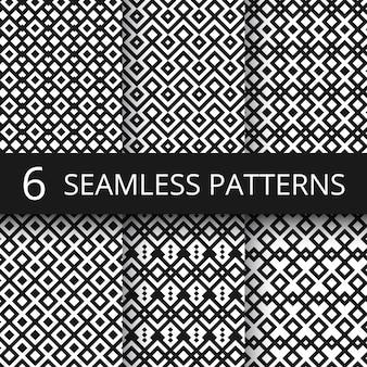 Arabic seamless ornamental vector patterns. islam architecture endless decoration