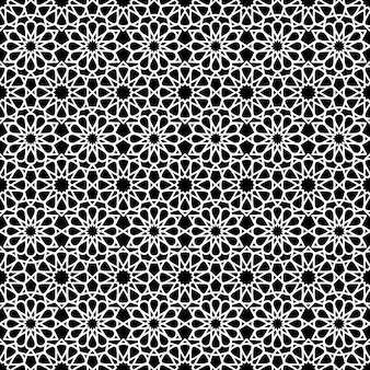 Arabic seamless pattern in black and white color.