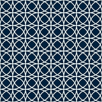 Arabic seamless pattern. the geometric shape. white and blue circles. a simple background. muslim stylish design. vector illustration.