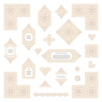 Arabic set of frames and templates