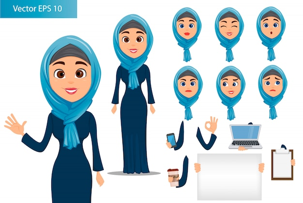Arabic woman constructor set