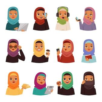Arabic woman  set.