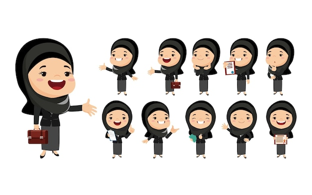 Арабские женщины в разных действиях