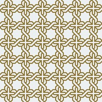 Arabic幾何学的な抽象的なアールデコモザイクシームレスパターン