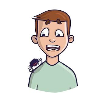 Арахнофобия. страх пауков и других паукообразных.