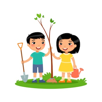 Arbor day of earth day vector illustration.