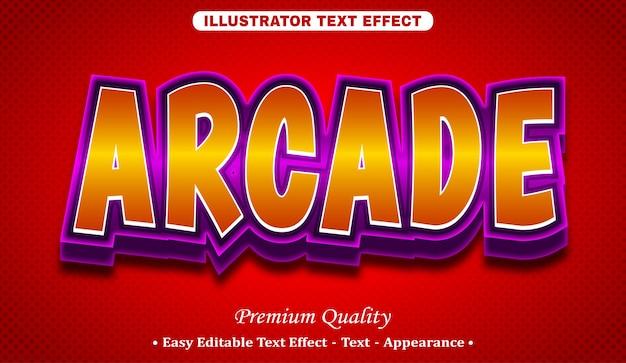 Редактируемый текстовый эффект аркады 3d