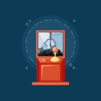 Arcade claw machine icon