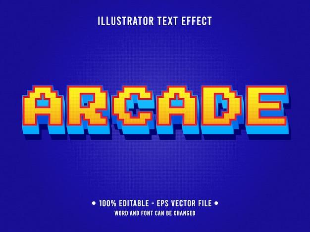 Аркадный редактируемый текстовый эффект в классическом стиле ретро-игры