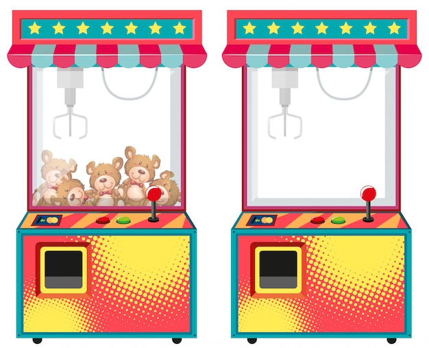 Arcade game machines with dolls