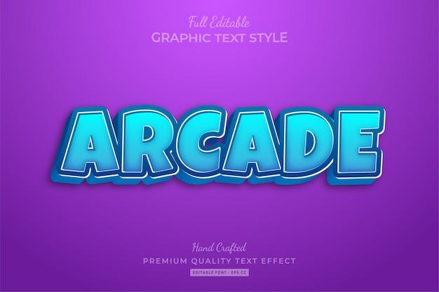 Arcade game premium text effect editable