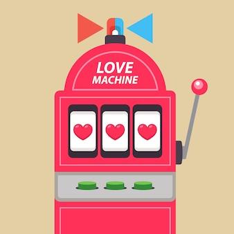 Аркадный игровой автомат с джекпотом. любовь машина иллюстрации.