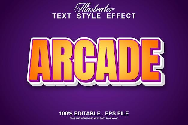 Редактируемый текстовый эффект аркады