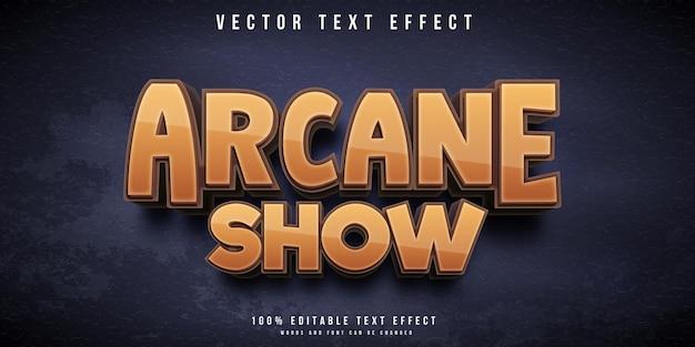 Arcane show style editable text effect
