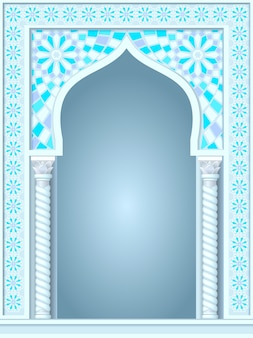 Arch in the arabic style